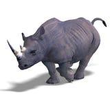 rhinocéros de rendu illustration stock