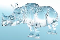Rhinocéros en verre Images stock