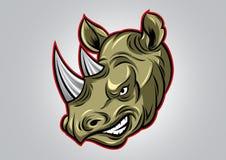 Rhinocéros Logo Vector Illustration simple principal Photos stock