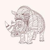 Rhinocéros modelé Photos libres de droits