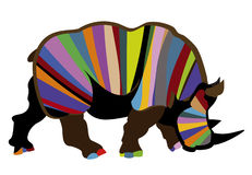 Rhinocéros sauvage Photographie stock libre de droits