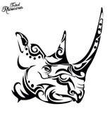 Rhinocéros tribal Photo stock