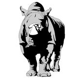 Rhinoceros. The quiet strength of African savannahs, isolated illustrations Stock Photo