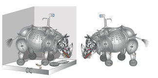 Free Rhinoceros Royalty Free Stock Image - 22380406