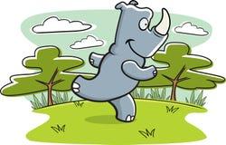 Rhinoceros. A cartoon rhinoceros running through the jungle Stock Photo