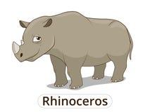 Rhinoceros african savannah cartoon illustration Stock Photography