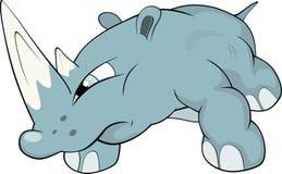 Rhinoceros .Cartoon Royalty Free Stock Images