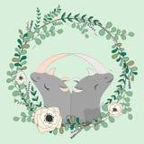 2018 02 23_rhinoceros_eucalyptus illustrazione di stock