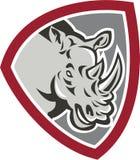 Rhinoceros Head Side Shield Royalty Free Stock Photography