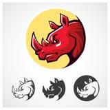 Rhinoceros Head Symbol Stock Photo