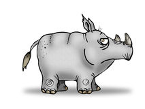 Rhinoceros  illustration Royalty Free Stock Photography