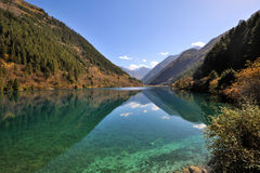 Rhinoceros lake in Jiuzhaigou Stock Photo