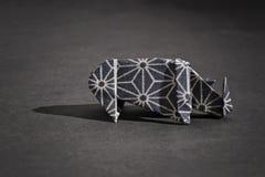 Rhinoceros origami Royalty Free Stock Photos