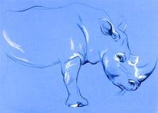 Rhinoceros painting Stock Image