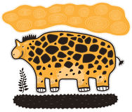 Rhinoceros and plant Royalty Free Stock Image