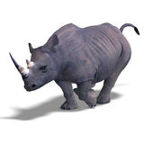 Rhinoceros Rendering Royalty Free Stock Photos