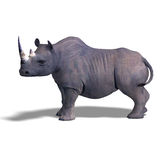 Rhinoceros Rendering Royalty Free Stock Photos