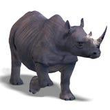Rhinoceros Rendering Stock Photo