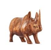 Rhinoceros rhino sculpture isolated Stock Photography