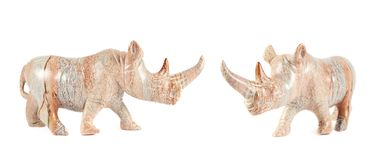 Rhinoceros rhino sculpture isolated Stock Photography
