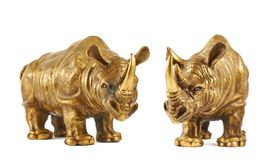 Rhinoceros rhino sculpture isolated Royalty Free Stock Image
