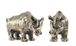 Rhinoceros rhino sculpture isolated Royalty Free Stock Photo