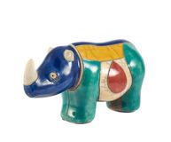 Rhinoceros rhino sculpture isolated Stock Photo