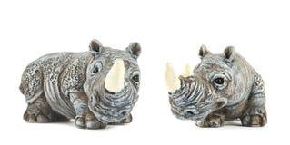 Rhinoceros rhino sculpture isolated Stock Photos