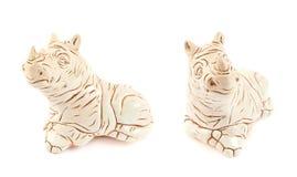 Rhinoceros rhino sculpture Royalty Free Stock Image