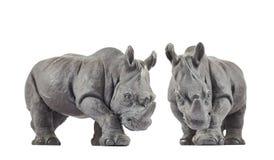 Rhinoceros rhino sculpture Stock Images