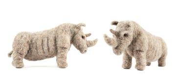 Rhinoceros rhino sculpture Stock Photos