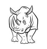 Rhinoceros Tattoo Stock Image
