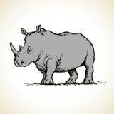 Rhinoceros. Vector drawing Stock Photos
