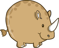 Rhinoceros Vector Illustration Royalty Free Stock Images
