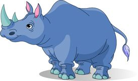 Rhinocéros de dessin animé Photo stock