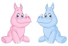 Rhinos del bambino Fotografia Stock
