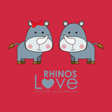 Rhinos design Royalty Free Stock Photography