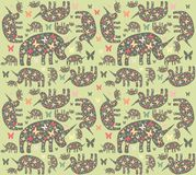 Rhinos pattern Stock Photography
