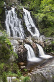 Rhiwargor Waterfall landscape in Snowdonia National Park during Royalty Free Stock Photography