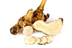 Rhizome of Galangal Stock Images
