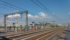 Rho Fiera-Bahnstation Stockbilder