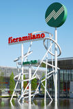 Rho Fiera Milano sign Royalty Free Stock Images