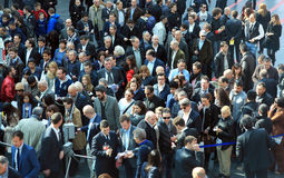 Rho Fiera, people crowd Stock Images