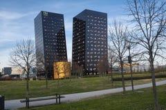 Rho Milaan, Italië: twee moderne torens Royalty-vrije Stock Afbeeldingen