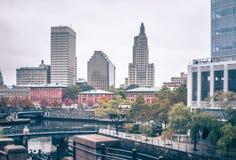 Rhode do providência - skyline da cidade da ilha em outubro de 2017 Foto de Stock