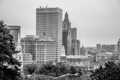 Rhode do providência - skyline da cidade da ilha em outubro de 2017 Imagens de Stock Royalty Free