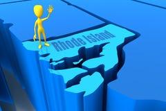Rhode - figura da vara do amarelo do estado de console Imagem de Stock