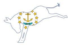 Rhode Island Democrat Donkey Flag Royalty Free Stock Image