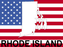 Rhode Island on flag Royalty Free Stock Photo