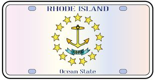 Rhode Island Flag License Plate illustration stock